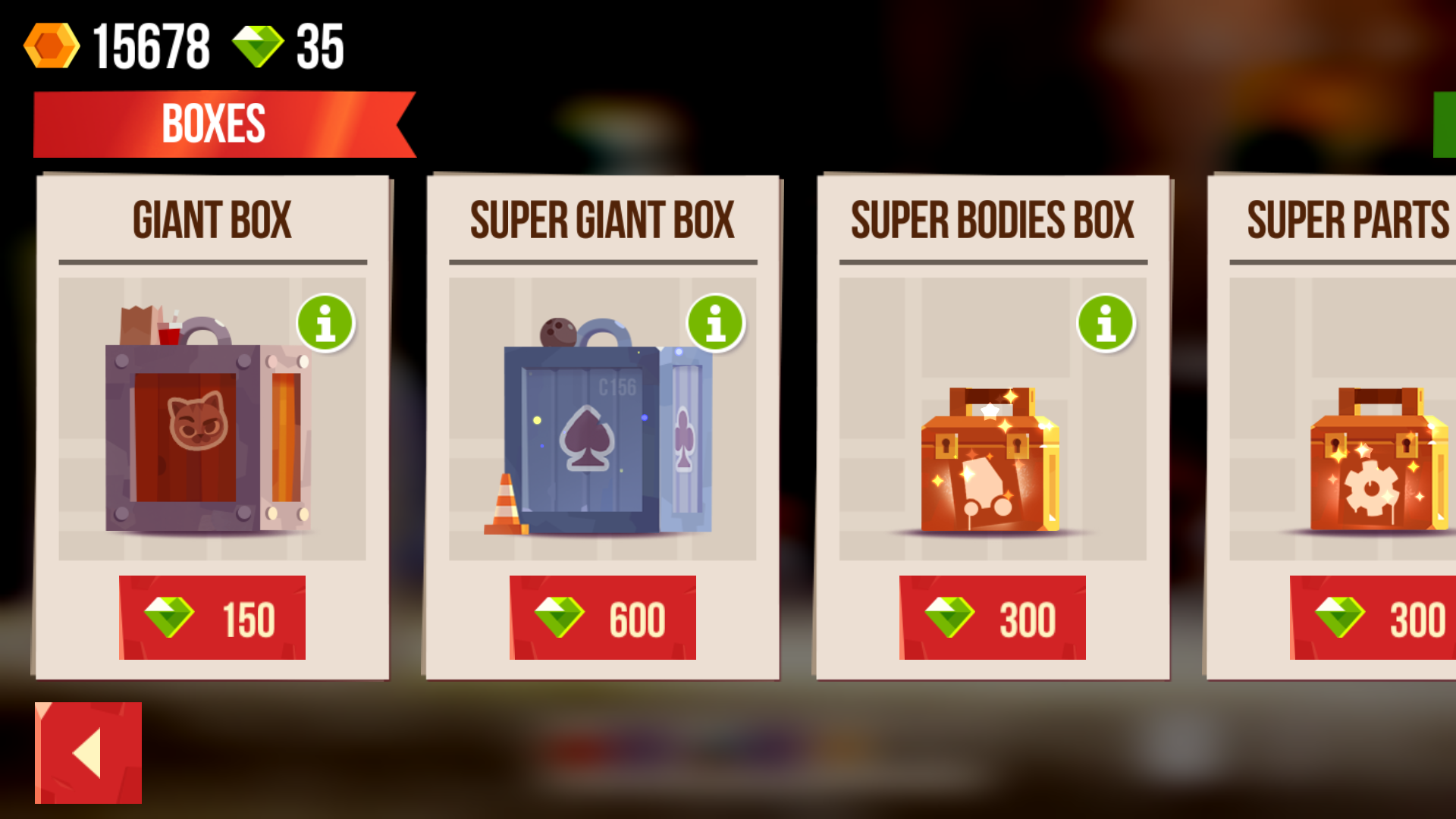 Buy Boxes for Gems